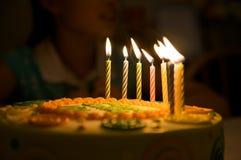 födelsedagstearinljus Royaltyfri Foto
