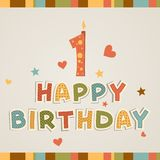 Födelsedagstearinljuset - numrera en Arkivfoto