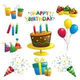 Födelsedagsymboler Arkivfoton