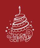 Födelsedagtårta royaltyfri illustrationer
