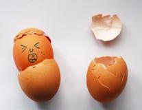 Födelsen av abstrakt begrepp för två ägg Arkivbild