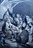 Födelsen av Jesus royaltyfri illustrationer