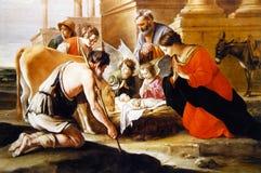 Födelsen av Jesus Christ royaltyfri illustrationer