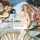 Födelsen av Venus 1483-1485 vid Sandro Botticelli vuxen människacolori Arkivbilder