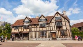 Födelseort för Shakespeare ` s i Stratford-på-Avon fotografering för bildbyråer