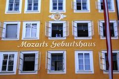 födelseort mozart s Arkivfoto