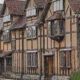 Födelseorthem av William Shakespeare i Stratford, England arkivbilder