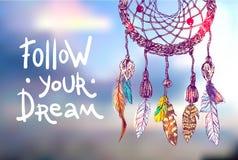 Följ din dröm vektor illustrationer