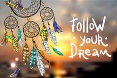 Följ din dröm stock illustrationer