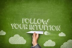 Följ ditt intuitionbegrepp Royaltyfria Bilder