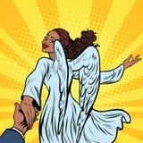Följ mig, den härliga ängelflickan, afrikansk amerikanfolk royaltyfri illustrationer