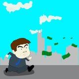Följ pengar, illustrationdesign Royaltyfria Bilder