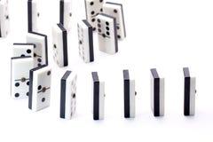 följa för domino Arkivbilder
