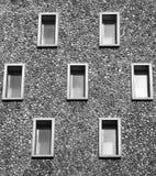 7 fönster Fotografering för Bildbyråer