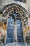 Fönster av det Rosslyn kapellet Royaltyfri Foto