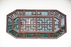 Fönster av kinesisk stil Arkivfoto