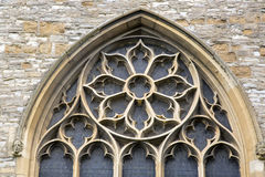 Fönster av kyrkan för helig Treenighet; Stratford Upon Avon Fotografering för Bildbyråer