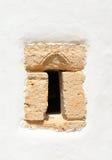 Fönster av kyrkliga Agios Georgios Sarantaris Royaltyfria Foton