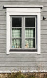 Fönster av trähuset Fotografering för Bildbyråer