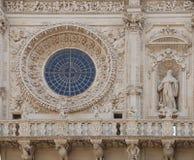 Fönster basilikadi Santa Croce Arkivbild