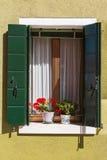 Fönster Burano Royaltyfri Foto