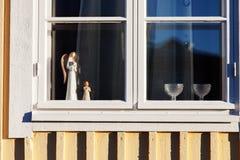 Fönster för Ð-¡ hristmas med garnering Royaltyfri Fotografi