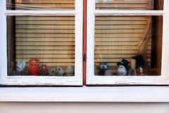 Fönster för Ð-¡ hristmas med garnering Fotografering för Bildbyråer