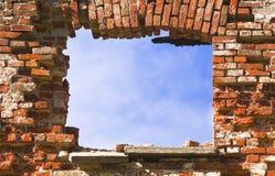 fönster för 4 vägg Arkivbilder