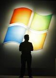 fönster för 8 microsoft förtittar arkivbild