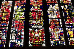 Fönster för Canterbury domkyrkamålat glass Royaltyfria Bilder
