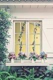 Fönster för en tappning Arkivfoto