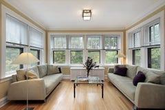 fönster för familjlokalvägg arkivbilder