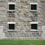 fönster för gallermetallsten Arkivbild