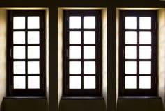 fönster för gammal stil tre Arkivbild