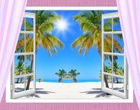 Fönster för havsikt Royaltyfri Bild