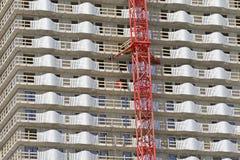 fönster för hus för garage för framdel för konstruktionsdetaljdörr Arkivfoto