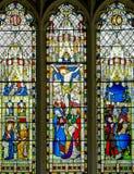 Fönster för Jesus Kristusmålat glass Royaltyfri Fotografi