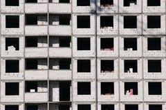 Fönster för konstruktionsplats Arkivfoton