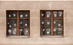Fönster för nytt år royaltyfri bild