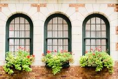 fönster för slottfrontenac s royaltyfria bilder