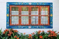 fönster för stiltibet tappning Arkivbilder