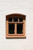 fönster för tegelstenväggwhite Royaltyfria Bilder