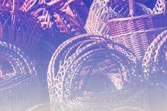 fönster för textur för bakgrundsdetalj trägammalt Vide- korgar från pilstänger Arkivbild