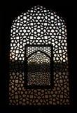 fönster för tomb för delhi humayunmodell Royaltyfri Foto