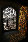 fönster för tomb för delhi humayunmodell Royaltyfria Foton