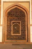 fönster för tomb för delhi humayunmodell Arkivbild