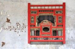 fönster för vägg för teckningsstil traditionellt Arkivbilder