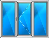 fönster för vektor för svart ramillustration plastic Royaltyfri Foto