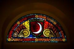 Fönster från kyrkan royaltyfri fotografi
