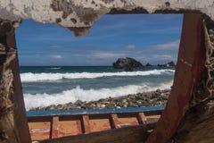Fönster från mitt fartyg royaltyfri fotografi